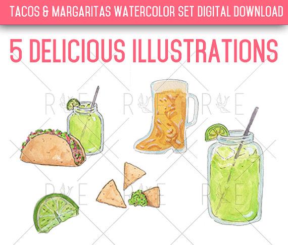 Beer clipart margarita  Studio rewersdesigns Beer Tacos