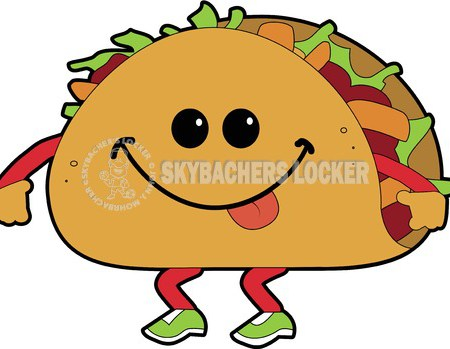 Tacos clipart Walking Skybacher's Taco Clipart Cartoon