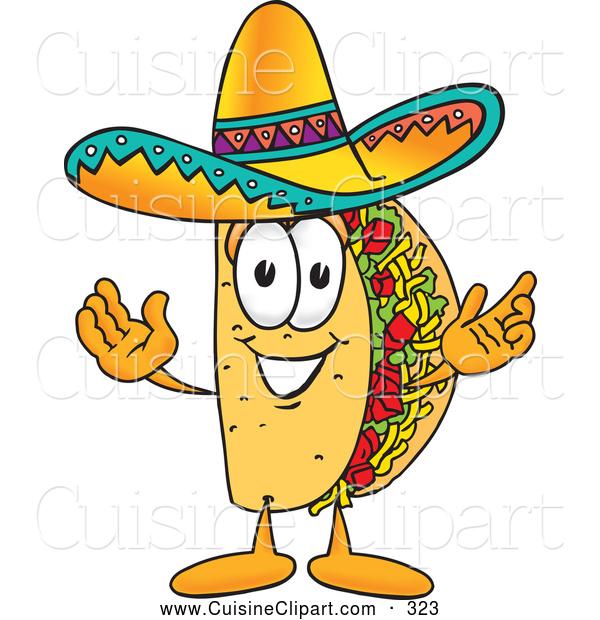 Taco clipart cafeteria food A Cuisine Friendly Open Mascot