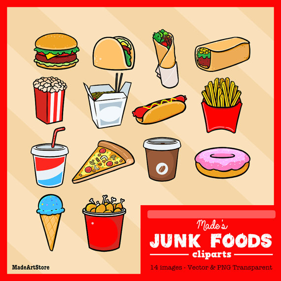 Taco clipart cafeteria food Junk Food Pajamas Pizza Invitations