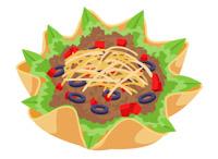 Bowl clipart taco salad Size: Art Kb mexican taco