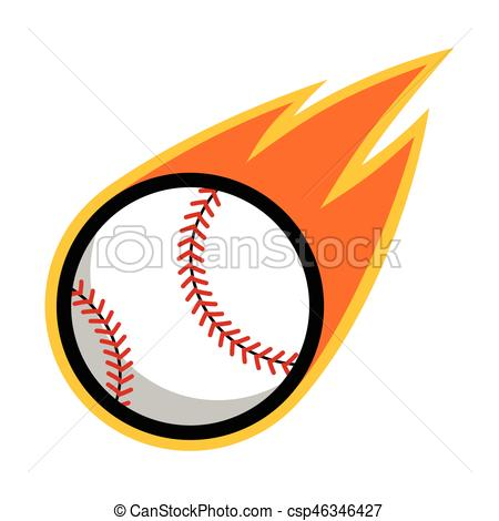 Sport clipart tail Sport Baseball fire flying tail