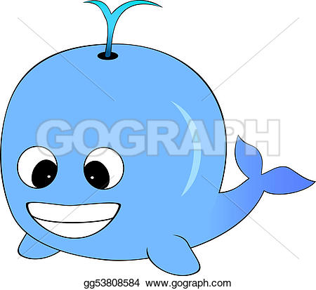 Blue Whale clipart beluga whale Royalty big Blue Blue a