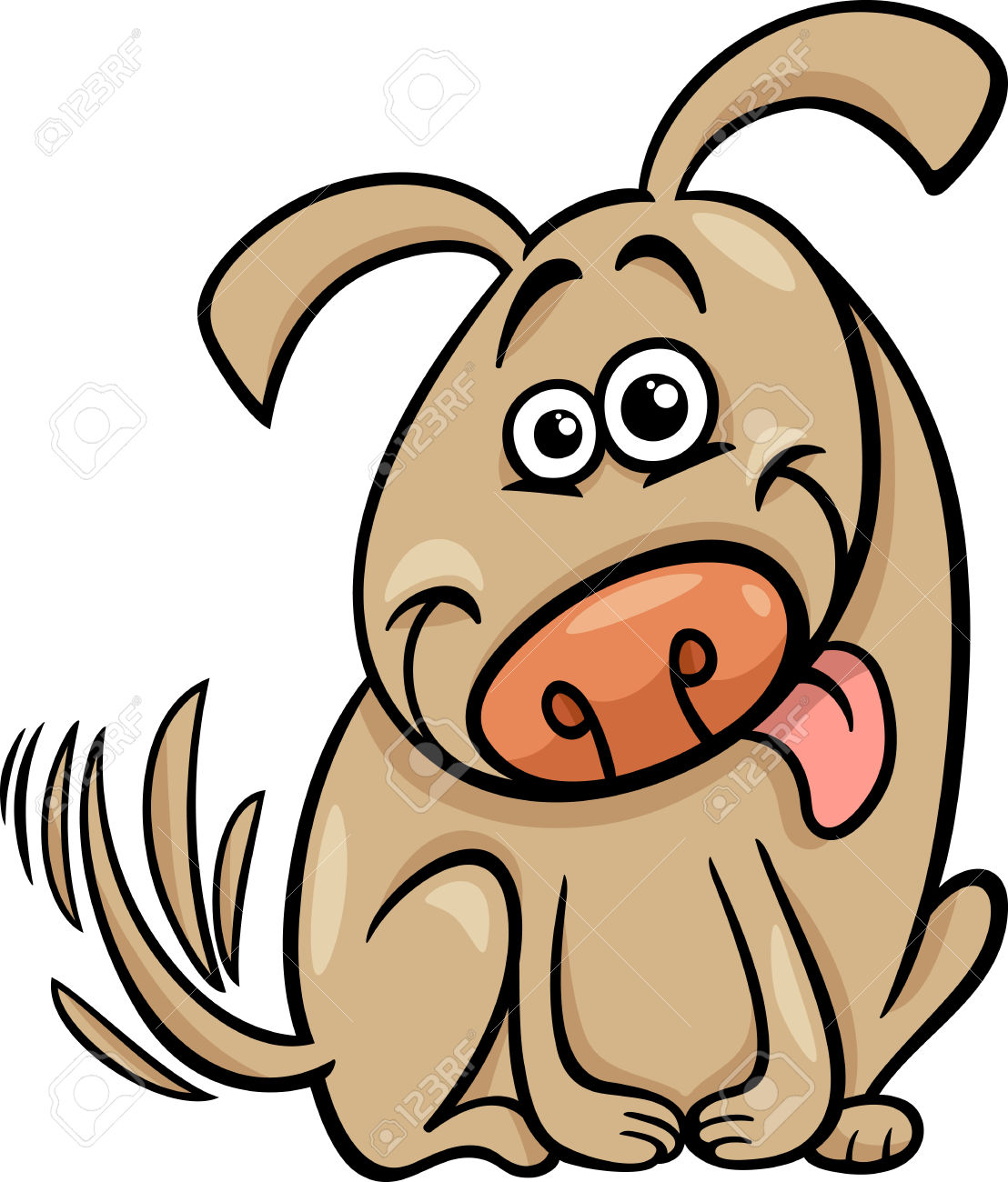 Perro clipart dog tail Illustration Cute Of tail clipart
