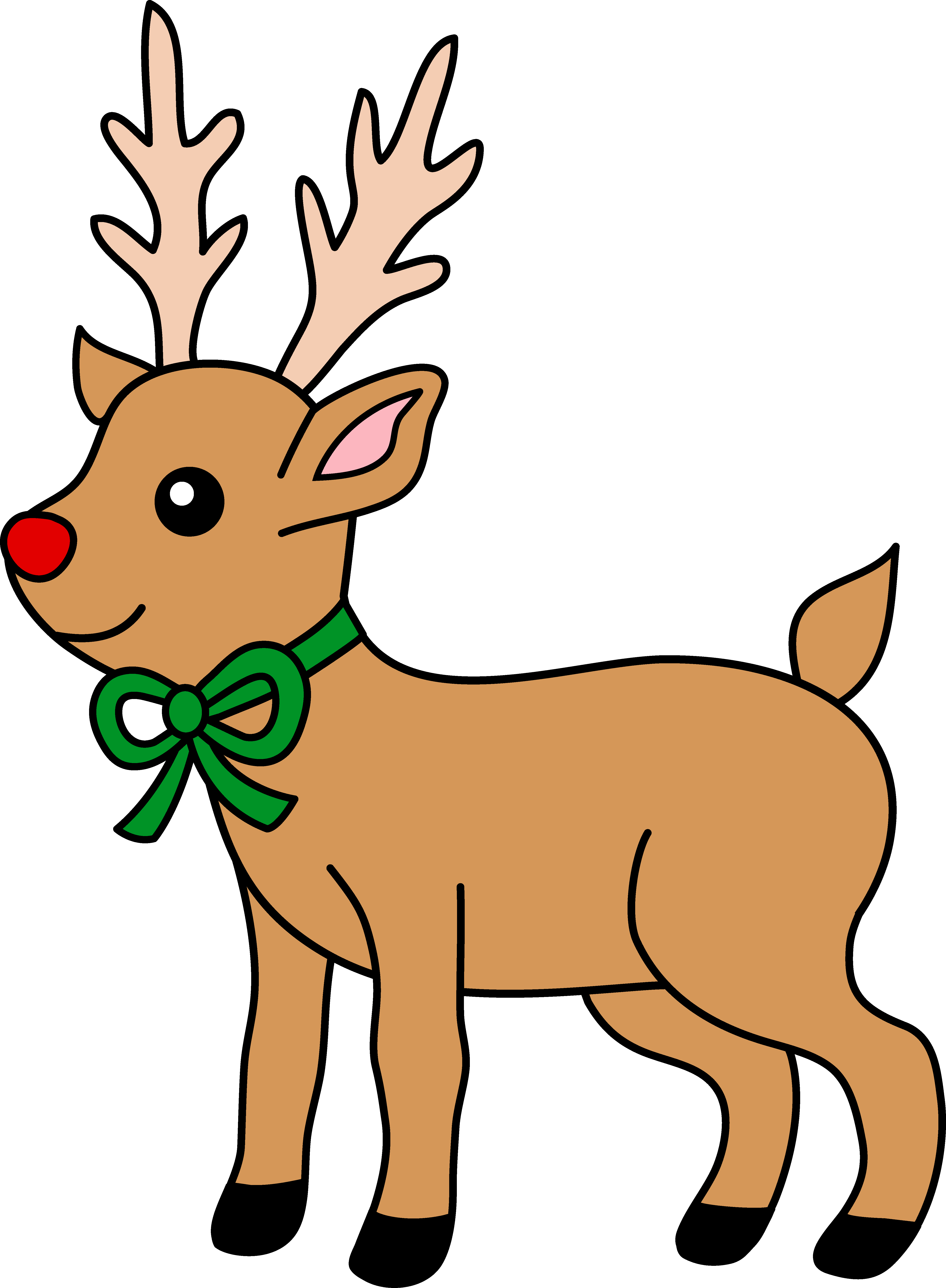 Drawn reindeer animated Nosed Clip Nosed Clip Clipart