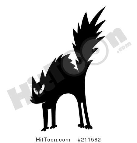 Black Cat clipart scared Preview Free Clipart #1 Larger