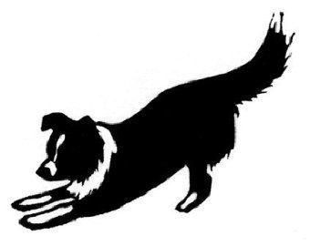 Rough Collie clipart silhouette #8