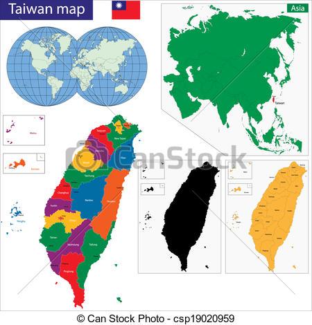 Taiwan clipart High map Free map vector