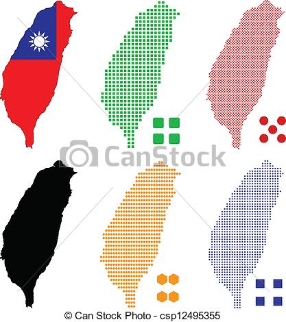 Taiwan clipart Taiwan Map Clipart Pixel Taiwan of Vector map