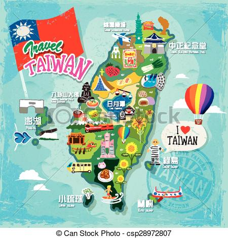 Taiwan clipart Taiwan Map Clipart Concept Vector travel Vector of