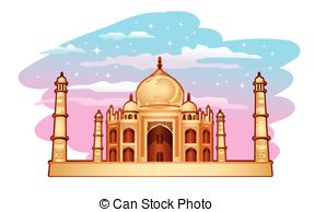 Taj Mahal clipart Mahal Illustrations free of blue