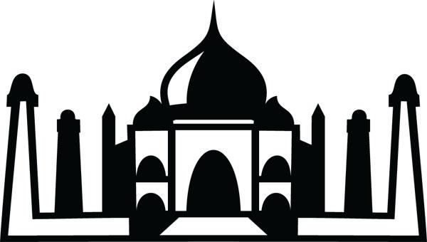 Taj Mahal clipart abstract Taj (4491) Mahal Products Clip