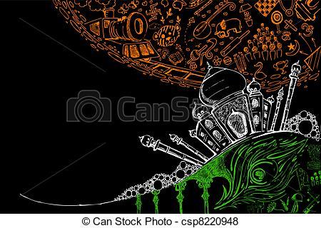 Taj Mahal clipart abstract Csp8220948 Tricolor Vector on Mahal