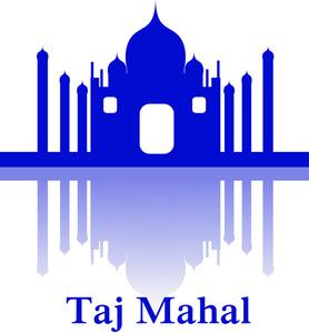 Taj Mahal clipart With Reflection Mahal Clipart Mahal