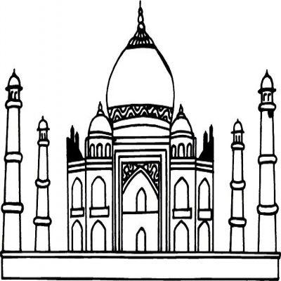 Taj Mahal clipart black and white Clipart Mahal Taj And Details