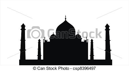 Taj Mahal clipart black and white Mahal taj  big royalty