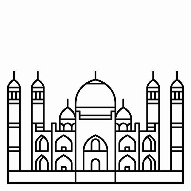 Taj Mahal clipart black and white Images Mahal Taj #Agra Taj