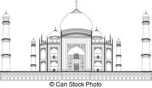 Taj Mahal clipart black and white Vector Mahal Taj Mahal clipart
