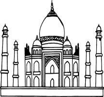 Taj Mahal clipart black and white Mahal Taj Mahal Clipart Taj