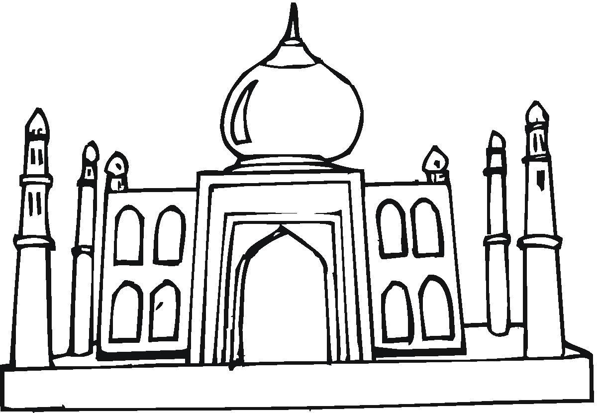 Taj Mahal clipart black and white Com Mahal Taj Taj Mahal