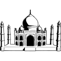 Taj Mahal clipart black and white Images Mahal Taj Image clipart
