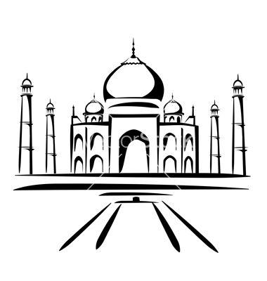 Taj Mahal clipart black and white Mahal mahal Taj ideas painting