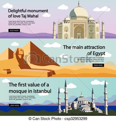 Taj Mahal clipart blue mosque Travel  stock Vectors culture