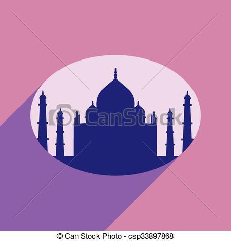 Taj Mahal clipart Vector of  long Mahal