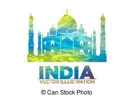 Taj Mahal clipart vintage In Clip Wonder Vector Tajmahal