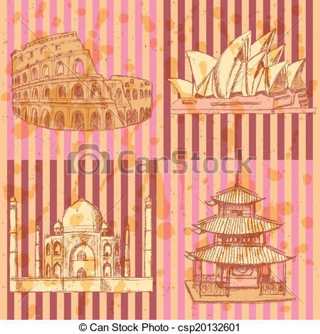 Taj Mahal clipart vintage Opera Clipart Coliseum Vector Coliseum