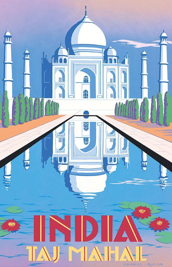 Taj Mahal clipart vintage Travel mahal India' Taj PEL316: