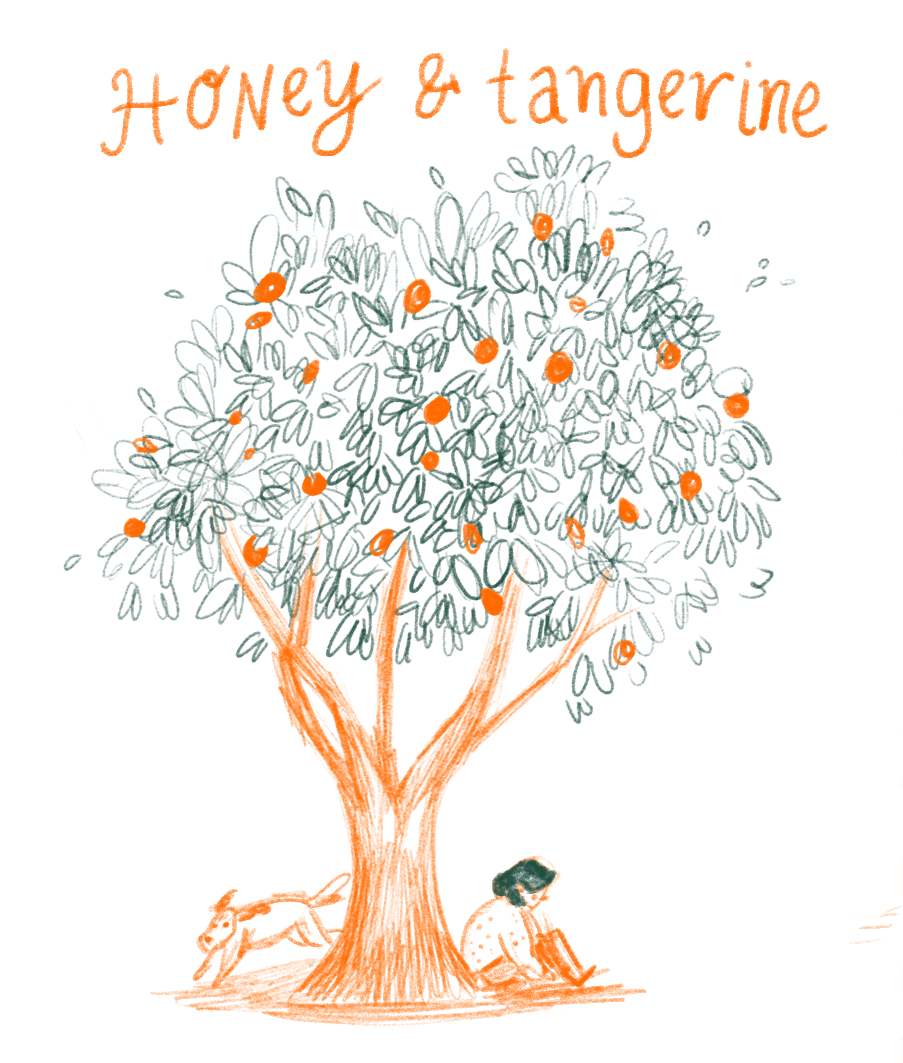 Tangerine clipart honey tangerine Illustration — Zuniga Jess Honey