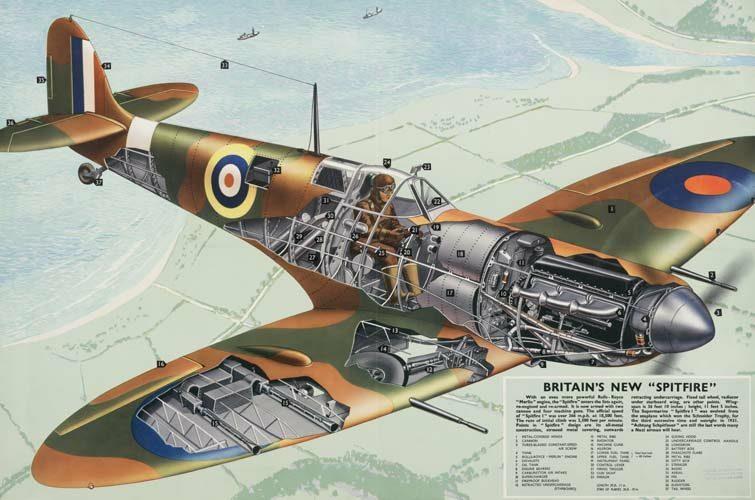 Aviation clipart spitfire Cutaway Supermarine Cutaways cutaway Spitfire