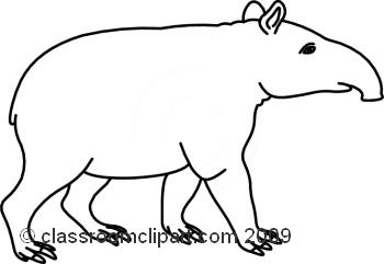 Tapir clipart 14 14 Classroom 09_23MBW Clipart