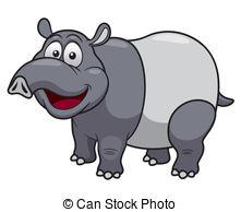 Tapir clipart Cartoon  EPS  Stock