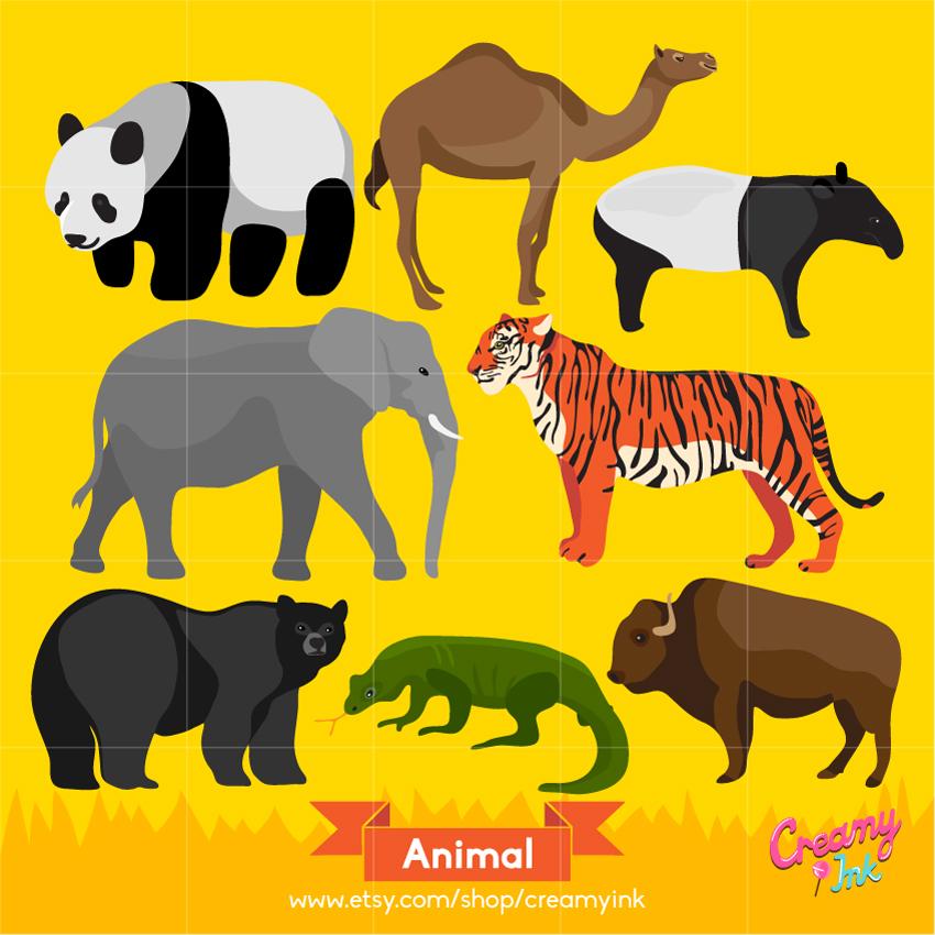 Iiii clipart tigers Digital as clip Animal digital