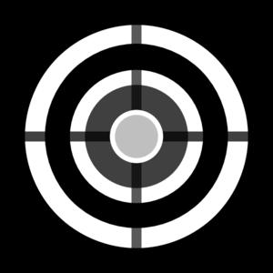 Target clipart Art Clker com Grey clip