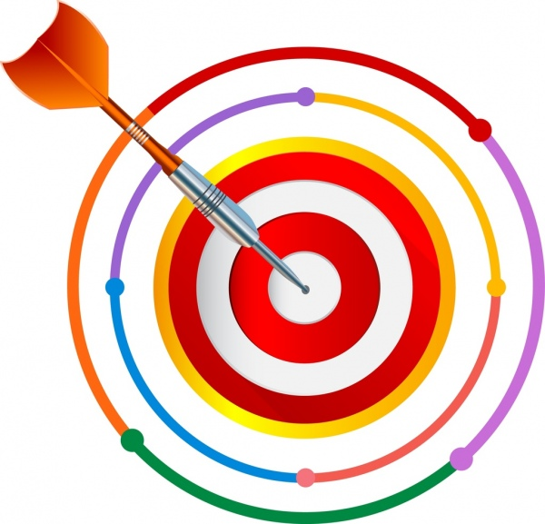 Colouful clipart target #1