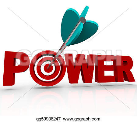 Target clipart control And position  word Illustration