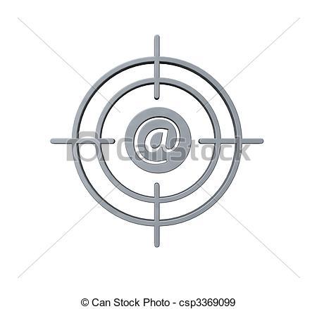Target clipart gun sight Target gun spam Illustration alias