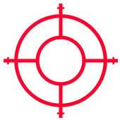 Target clipart gun sight Stock Royalty Illustrations Scope target