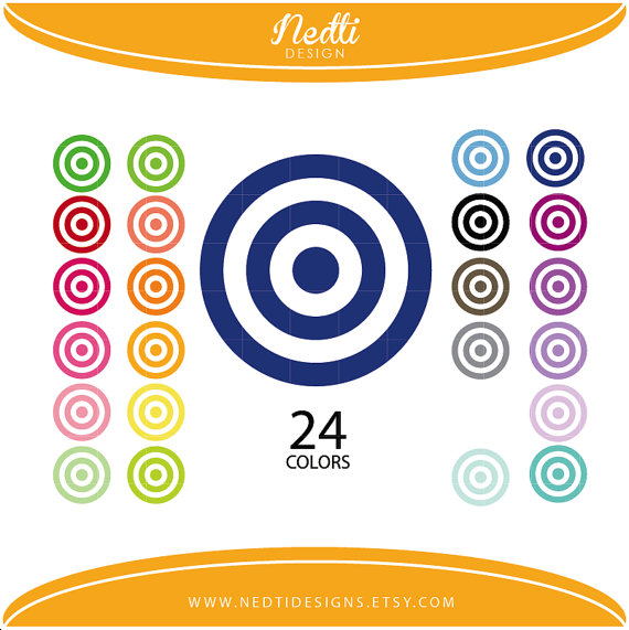 Colouful clipart target #2