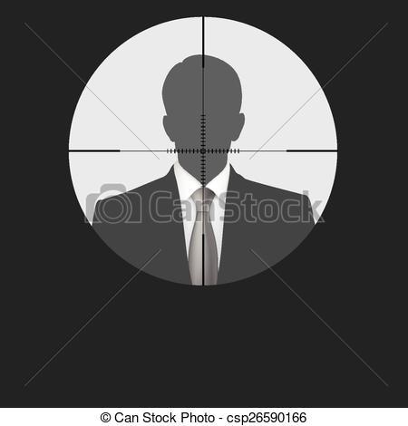 Illustration Sniper Vector scope crosshair