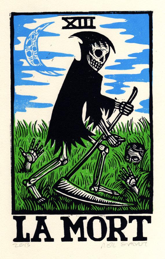 Tarot Cards clipart death The HorseAndHare Card 00 Art
