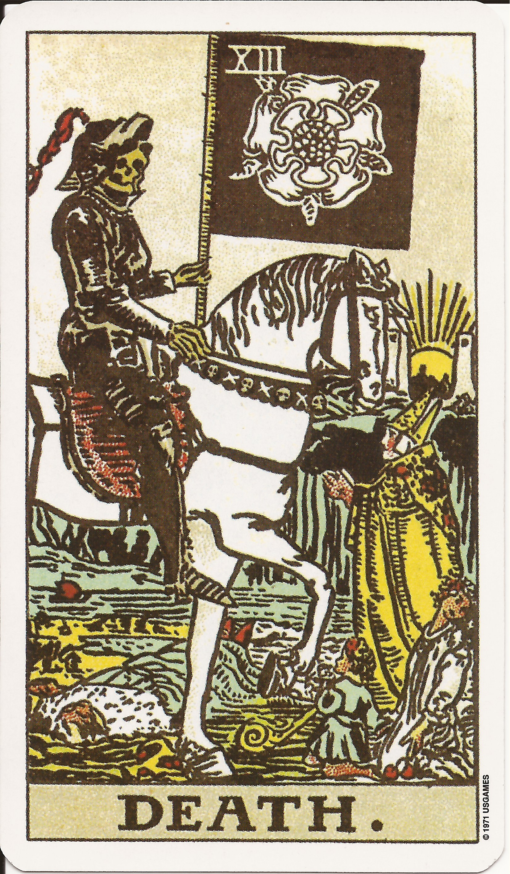 Tarot Cards clipart death на Tarot Tarot Death Waite