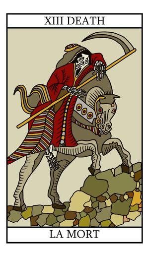 Tarot Cards clipart death With Keywords/phrases with Death tarot