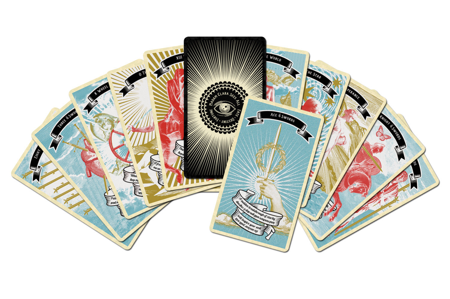 Tarot Cards clipart fortune teller Indie Fortune Deck Sees All