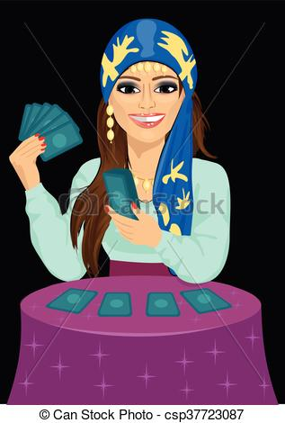 Tarot Cards clipart fortune teller Forecasting Young future fortune teller