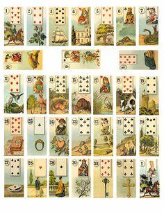 Tarot Cards clipart modern Vintage Collage  2 Vintage