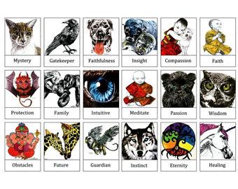 Tarot Cards clipart real Art Art Animal Totems Animal